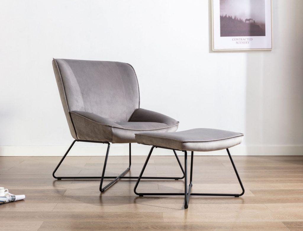 Teagan Chair & Stool Grey